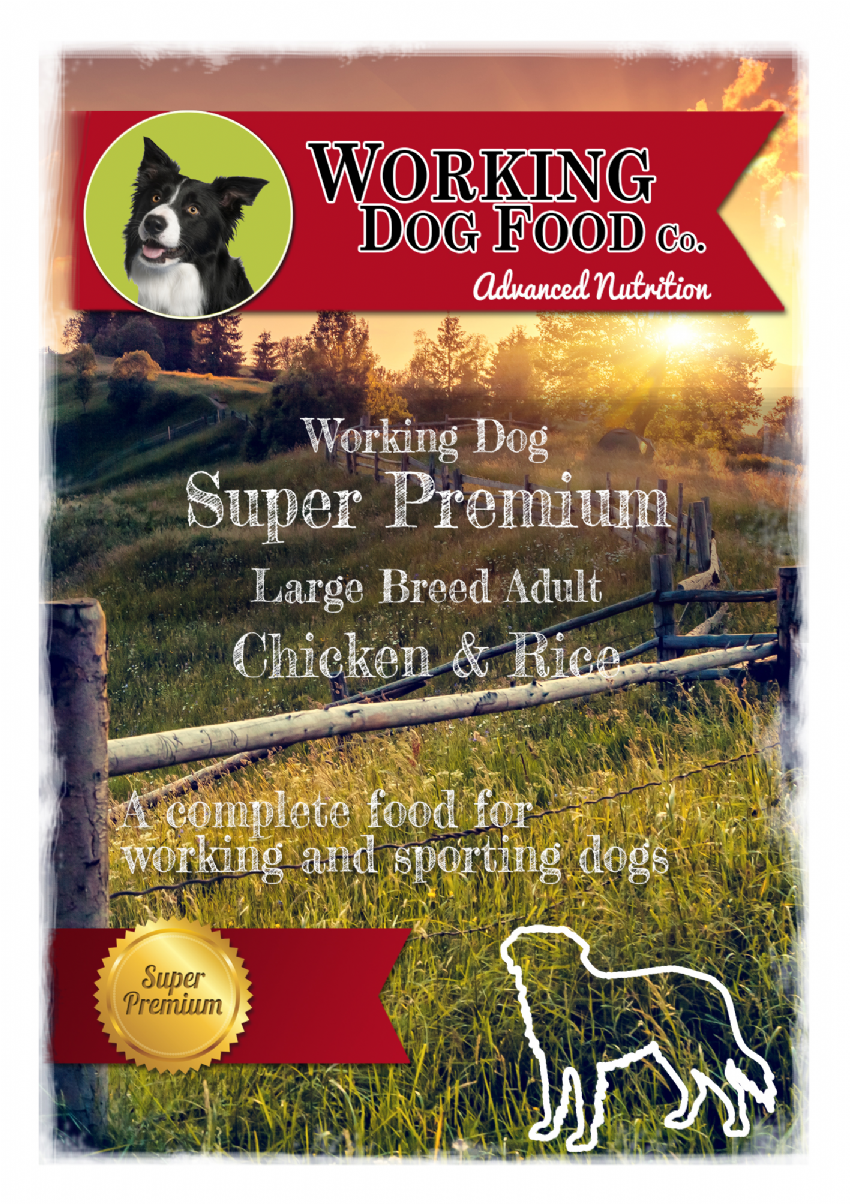 Super Premium Hypoallergenic Adult Large Breed Chicken & Rice, Complete Dry Dog Food